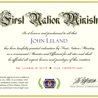 Wedding Minister Ordination Certificate (Image)
